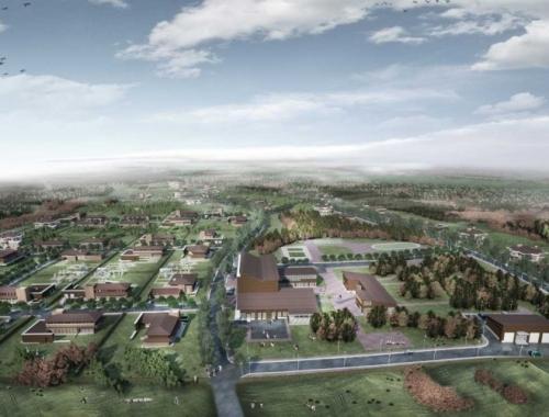 Open architectural competition premium class eco-village