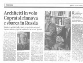 Architetti in volo..l'articolo su Gazzetta di Mantova